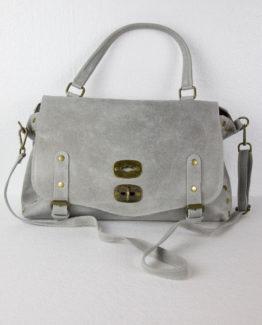 Jasmine, borsa in pelle colore grigio