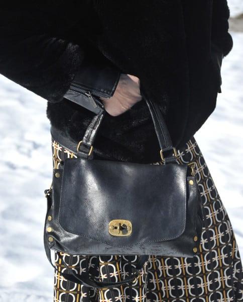 Jasmine xs borsa in pelle colore nero